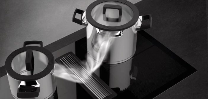 Downdraft pannen: speciaal voor kookplaten met geïntegreerde afzuiging